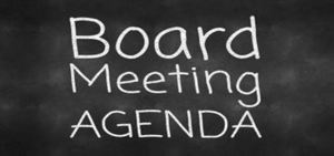 Special Board Meeting Agenda