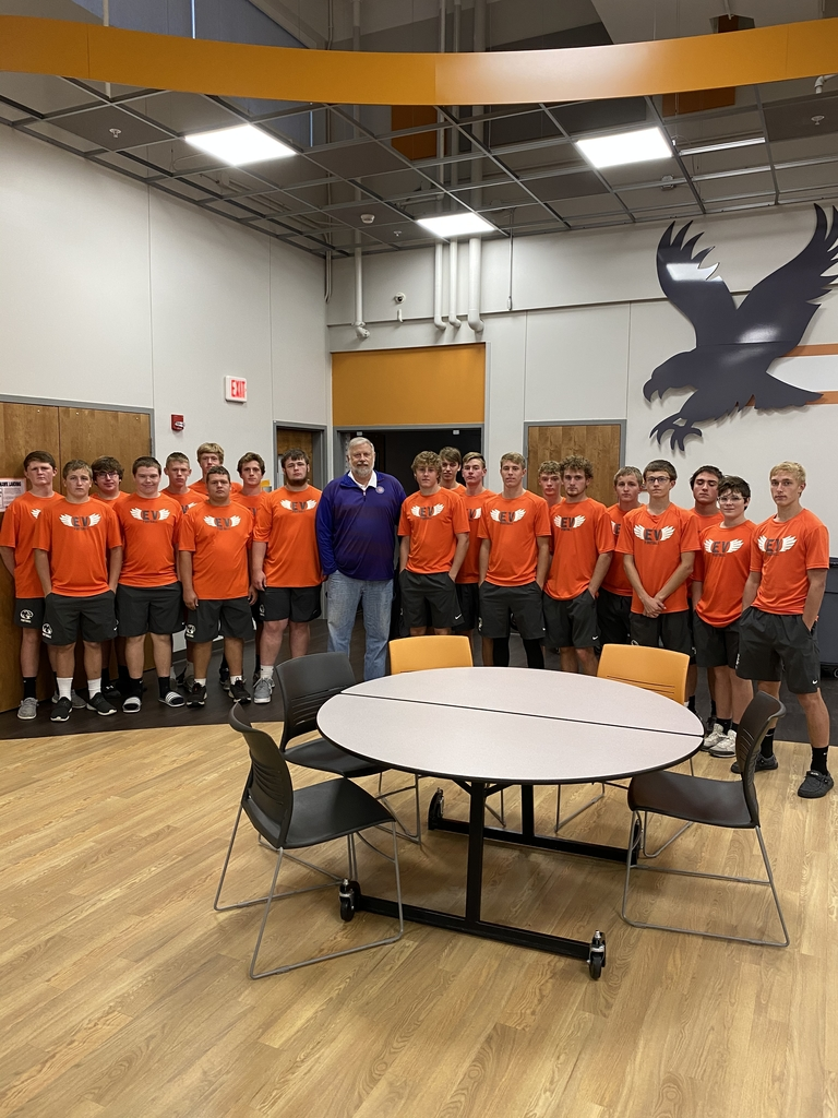 EV football team and Mike Young