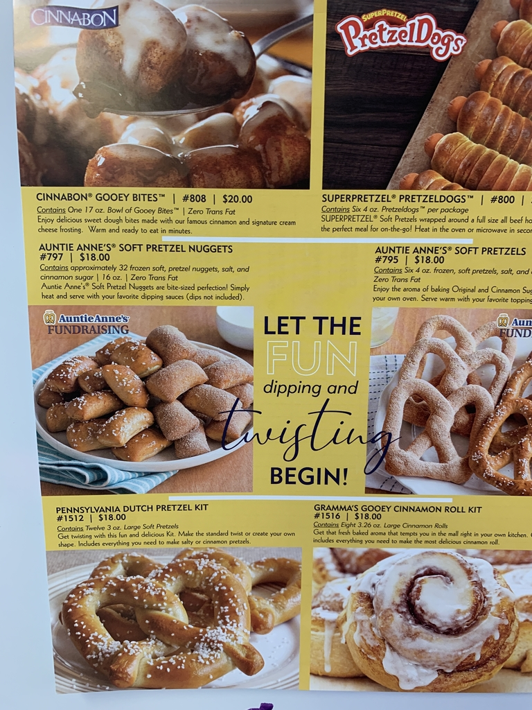 Pretzels, cinnamon rolls and more!