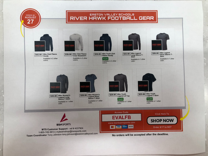 River Hawk Football Shop