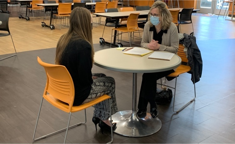 Laura Farrell interviewing Lexi Behn for Mock Interviews today