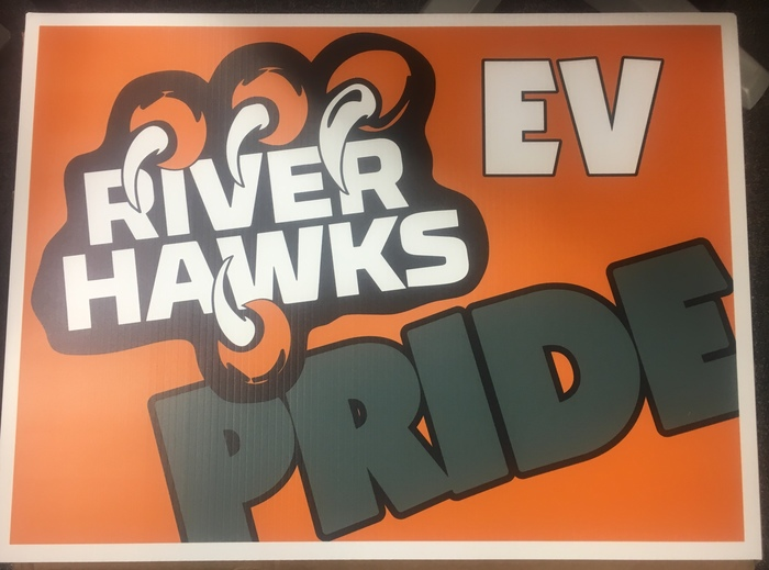 River Hawk Pride Sign