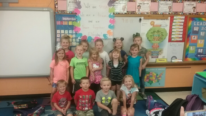 Mrs. Kueter's Kindergarten leaders!