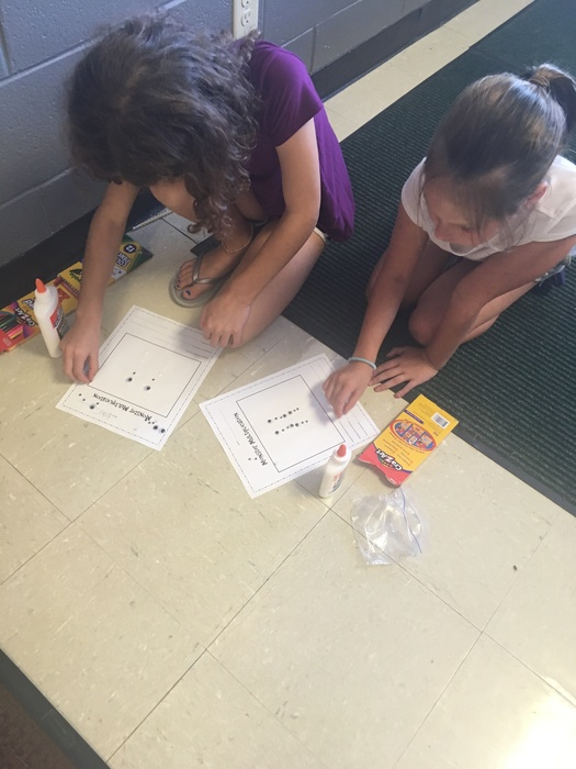 Third grade practiced their multiplication skills this afternoon by making multiplication monsters!