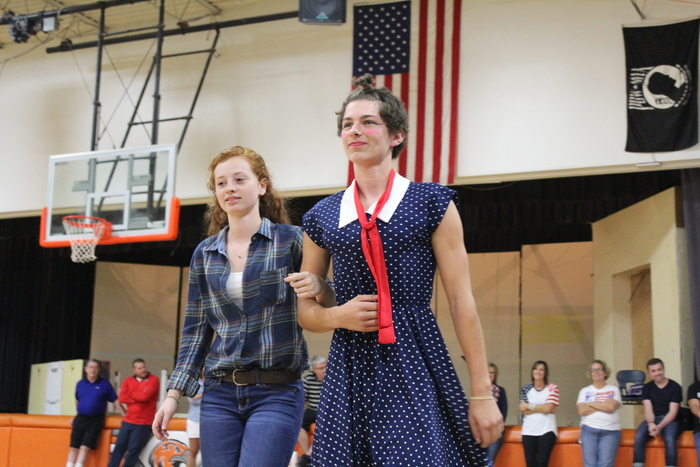 Senior Casey Reuter, escorted by senior Madison Banowetz.