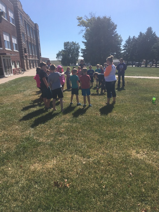 Mrs. Parker and Miss Cram's classes learned about reactions this afternoon by mixing Mentos candy into different types of soda.