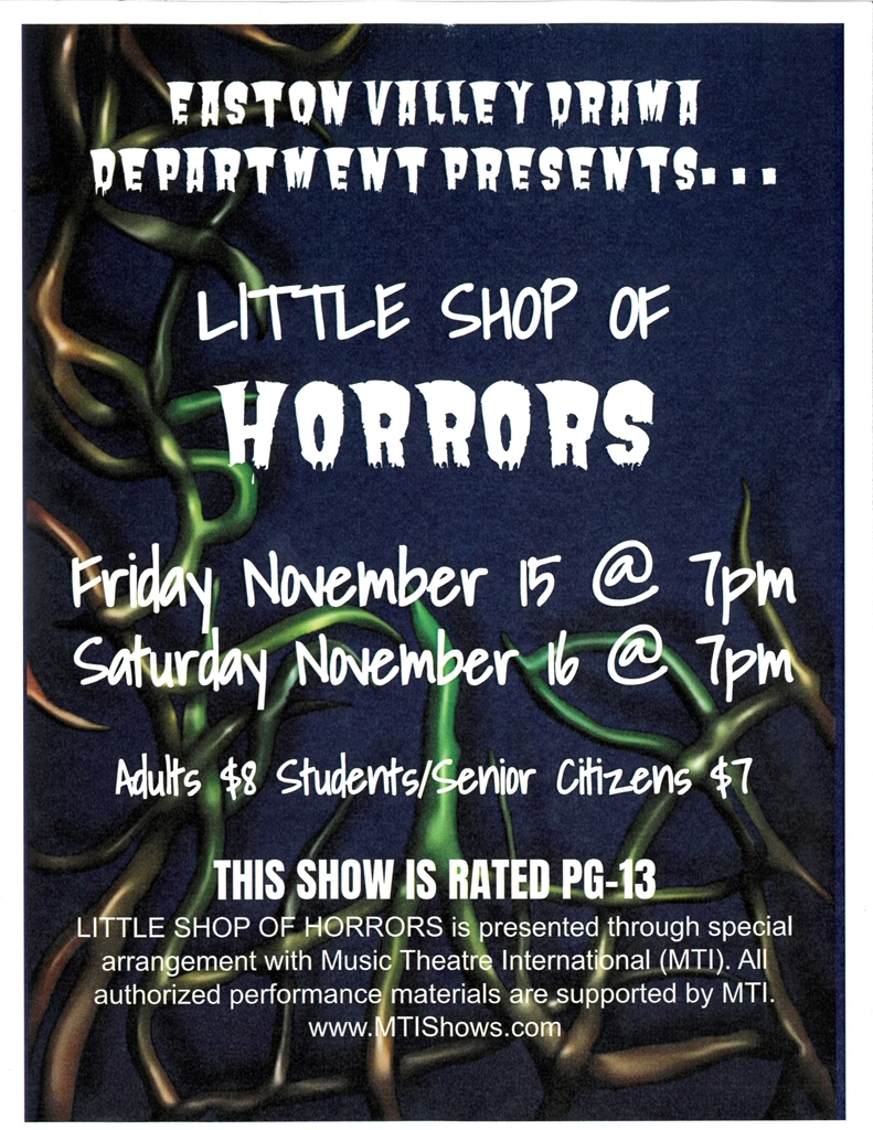 EV Performing Arts Presents -- Little Shop of Horrors