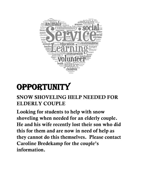 Service Learning Opportunity