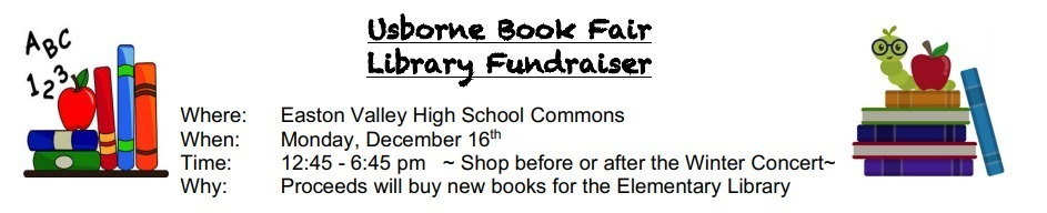 Usborne Book Fair Library Fundraiser