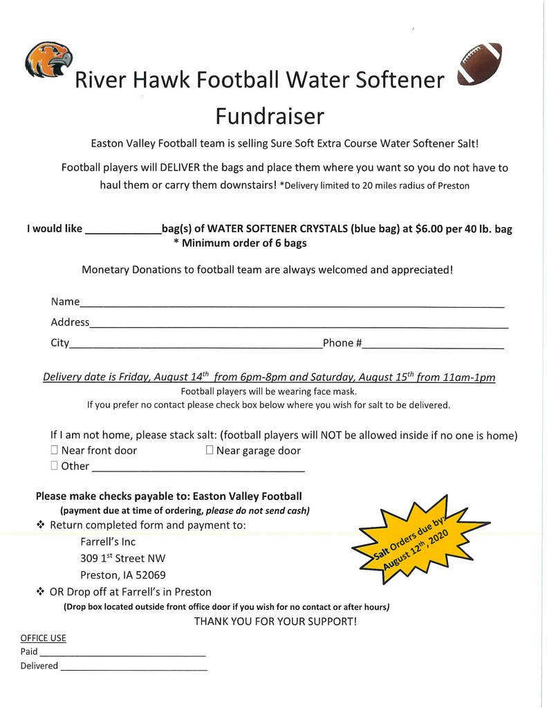 Water softener fundraiser